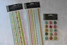 Dovecraft adhesive Christmas Fancy ribbon stickers & brads cards scrapbooking