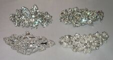 EXQUISITE SILVERTONE CRYSTAL BARETTE SELECT STYLE SHIPS FAST FROM USA