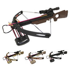 Spider 150lb Compound Crossbow 4x32 Scope + 8x Arrows + Cocking Rope + Quiver