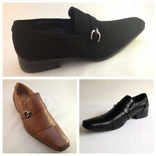 Mens Slip On Shoes Leather and Suede Look Work Office Dress Party Size 6 - 11