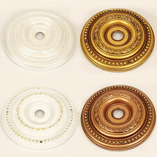 "Regular 40cm 16"" Plastic Ceiling Rose in 5 Aged Antique Style Vintage Finishes!"
