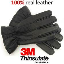 Mens Leather Gloves Warm Winter Quality Thermal Walking Outdoor Driving Cycling