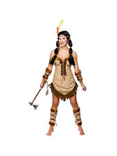 Adult Ladies Indian Squaw Wild West Princess Pocahontas Fancy Dress Costume BN