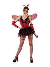Adult Lovely Ladybird Lady Bird Bug Insect Animal Fancy Dress Ladies Costume New
