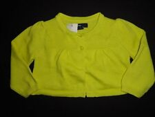 NWT Baby Gap 3-6 6-12 Months Puff Sleeve Cardigan Sweater Phosphorus Green