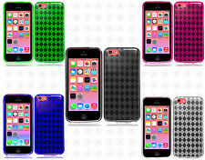 For Apple iPhone 5C TPU CANDY Gel Flexi Skin Case Phone Cover Plaid Accessory
