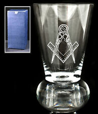 Krosno Crystal Masonic Firing Glass Engraved With The Compass And Square Logo