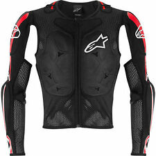 New alpinestars bionic pro black & red armored motorcycle jacket SPORTBIKE