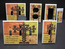 HOLY CROSS BIBLE VERSE JOSHUA 24:14   LIGHT SWITCH COVER PLATE OR OUTLET