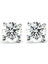 .75 cttw Diamond Studs Available in 14K White and Yellow Gold