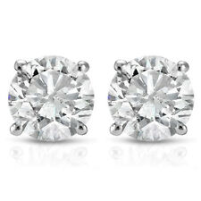 .50 cttw Round Diamond Studs Earrings In 14K White or Yellow Gold