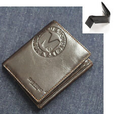 New Mens Wallet KOREA -318 Vintage Genuine Leather Bifold Coin Pocket Purse Hot