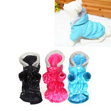 Pet Dog Puppy Silk Floss Waterproof Warm Clothes Hoodie Thick Coat for Winter