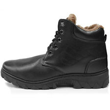 New Trend Snow Winter Working Mens Black Boots Shoes