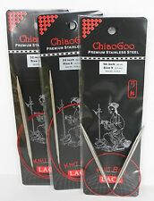 ChiaoGoo Red Lace Stainless Steel Circular Knitting Needles