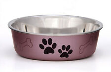 Loving Pets Metallic BELLA BOWL  Stainless Steel SMALL Dog Feeder Bowl  5 COLORS