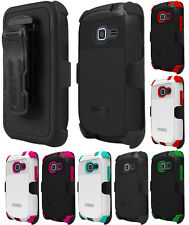 RUGGED DUO-SHIELD CASE + BELT CLIP HOLSTER FOR SAMSUNG GALAXY DISCOVER CENTURA