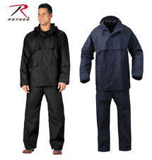 BLACK NAVY BLUE MICROLITE PRO WATERPROOF ADJUSTABLE HOOD RAIN SUIT COAT JACKET