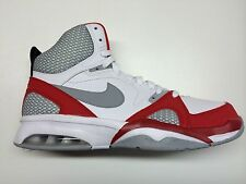 Nike Mens Air Ultra Force 2013 Shoes New White University Red 555087-101