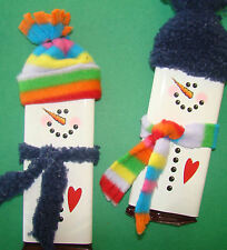 50 Christmas Holiday SNOWMAN Candy Bar Wrapper Label DIY Craft Show Fundraiser