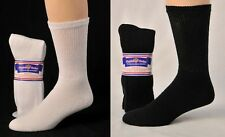 3, 6 or 12 Pair  Diabetic Cushioned Crew Socks Sizes 9-11, 10-13, 13-15