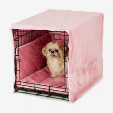"Pet Dreams PLUSH PINK 24"" Dog Pet Puppy Wire Crate Training Cover Bed Bumper Pad"