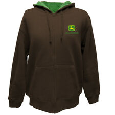 JOHN DEERE FULL ZIP HOODIE MENS IN BROWN brown