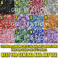 20000 x Round Crystal Nail Art Rhinestone  PICK 1 ONLY