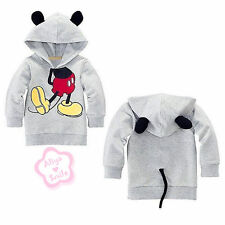 Toddler Boy Girl Unisex Hooded Tops Kids Mickey Mouse T Shirt Costume Tail 2T-6