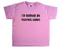 I'd Rather Be Playing Cards Pink Kids T-Shirt