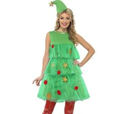 Christmas Fancy Dress Ladies Christmas Tree Tutu Costume S, M & L 1st Class Post
