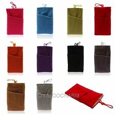 For iPhone 5 5S 5C Samsung S3 S4 Soft Sleeve Cloth Two Pocket Bag Case  Pouch