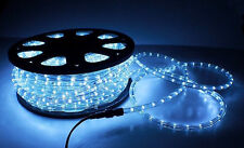 NEW 2 Wire LED Rope Light Home Outdoor Christmas Lighting Cool White