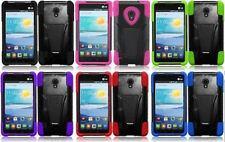 LG Optimus F5 AS870 Faceplate Phone Cover Case Tstand + SCREEN PROTECTOR