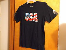 "BRAND NEW MEN'S "" FADED GLORY"" NAVY BLUE  "" U.S.A.""  T' SHIRT"
