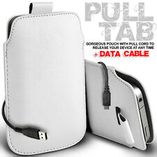 LEATHER PULL TAB POUCH SKIN CASE COVER AND DATA CABLE FITS VARIOUS LG  PHONE