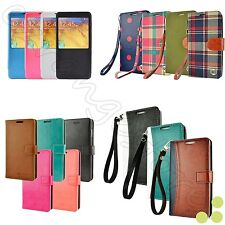 For Samsung Galaxy Note 3 Note 4 Luxury Leather Card Wallet Flip Case Cover