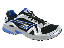 New Hi-Tec R156 Boys Sport Running Lace Black Silver Trainers Shoes Size 13-6 UK