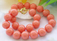 """Rare Huge 8/10/12MM 14MM south sea Pink Shell Pearl Necklace AAA 18"""" Pick Size"""