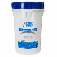 """Wrapped Trichlor Jumbo 3"""" Chlorine Tablets for Pools, 50-Pound Bucket 50 lbs"""