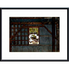 John K. Nakata 'Shed and Window' Metal Framed Art Print