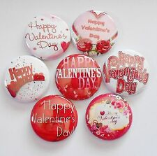 """Happy Valentines Day II Flatback - Pin Back Buttons 1"""" for Bows Etc"""