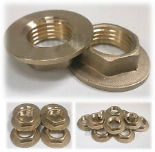 "PAIR REPLACEMENT SOLID BRASS BASIN KITCHEN SINK TAPS 1/2"" BSP TAP BACKNUTS"
