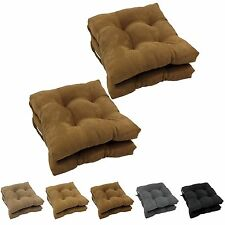 Blazing Needles Microsuede 16-inch Square Dining Chair Cushions (Set of 4)