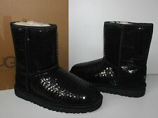 Ugg Youth Classic Short Sparkles Black sequin boots - Big Kids - New in Box!