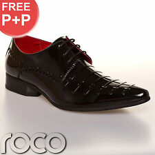 Cheap Mens Formal Shoes Black Wedding Patent Mens Fashion Shoes UK 6-12