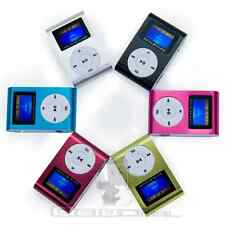 Reproductor Lector MP3 Player Clip Aluminio Pantalla LCD FM Radio soporta 32GB