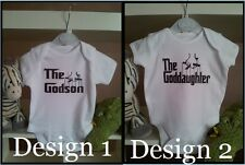 The Goddaughter Godson Funny Babygrow Baby Vest Babies Gift Clothing Cute onsie