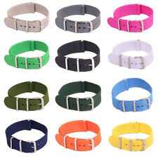 22mm 20mm 18mm Nato Fiber Nylon Military Army Watch Strap Wristwatch Band Buckle