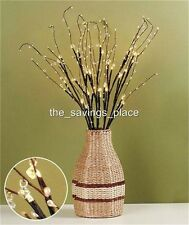 CRYSTAL BEADED LIGHT-UP BRANCHES CENTERPIECE BATTERY-OPERATED-LOVELY TABLE DECOR